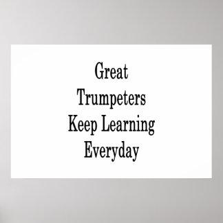 Poster Les grands trompettistes maintiennent l'étude