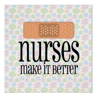 Poster Les infirmières le rendent un meilleur, mignon