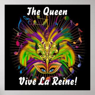Poster Les notes de vue de la reine 3 de mardi gras