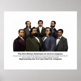 Poster Les premiers Afros-américains à servir dans le