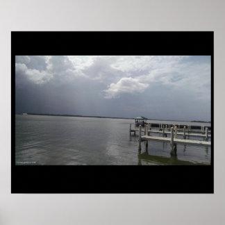 Poster Les tempêtes de la Floride peuvent venir