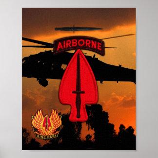 Poster Les vétérans spéciaux d'USASOC Ops contrôle le