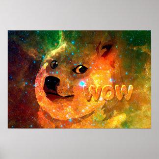 Poster l'espace - doge - shibe - wouah doge