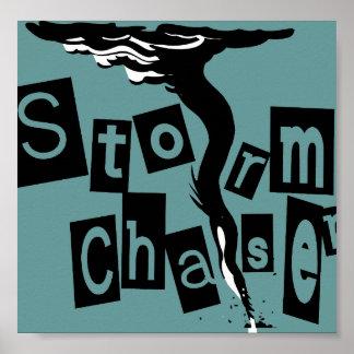 Poster Lettres de boîte de chasseur de tempête