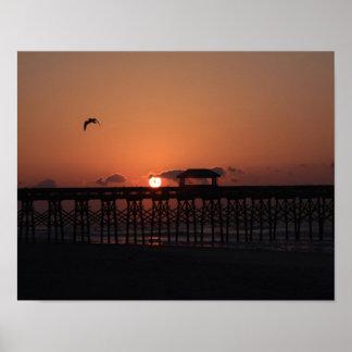 Poster Lever de soleil à ailes