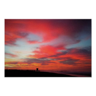 Poster Lever de soleil à la plage de Newport, CA