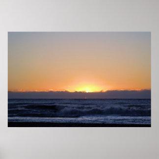Poster Lever de soleil au-dessus de l'océan