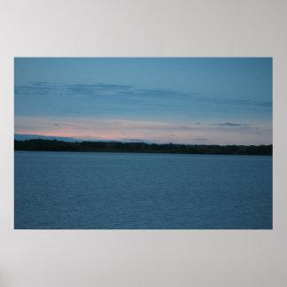 Poster Lever de soleil de lac calamus