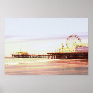 Poster Lever de soleil de pilier de Santa Monica