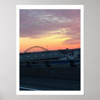 Poster Lever de soleil de pont