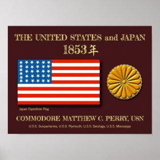 Poster L'expédition Etats-Unis du Japon diminuent