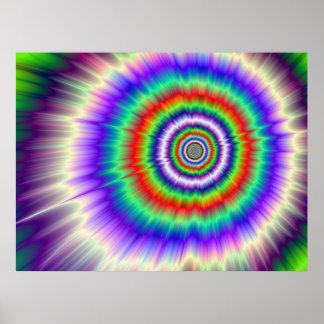Poster L'explosion de couleur teignent en nouant