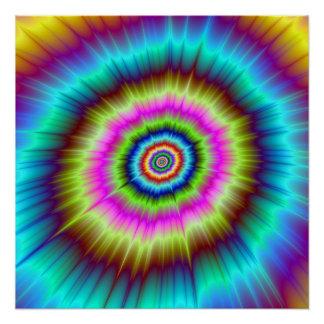 Poster L'explosion parfaite de colorant de cravate