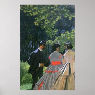 Poster l'Herbe de sur de Dejeuner de Claude Monet |,