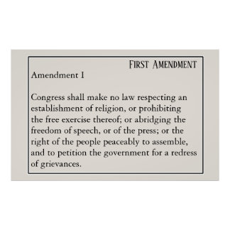 Poster Liberté de parole de constitution de premier