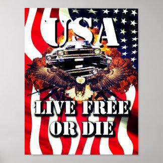 Poster Libres vivants ou meurent affiche américaine