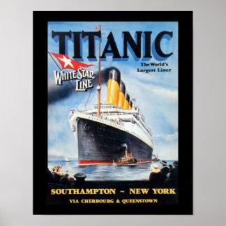 Poster Ligne blanche titanique d'étoile - le plus grand
