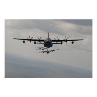 Poster Ligne de C-130 Hercule