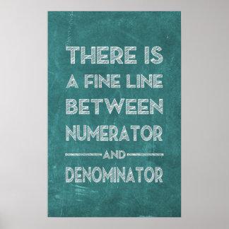Poster Ligne fine - affiche de maths