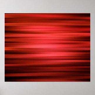 Poster Lignes rouge foncé de motif abstrait