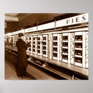 Poster L'image vintage 1935 d'histoire de New York de