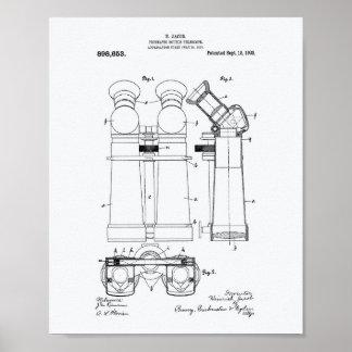 Poster Livre blanc de double du télescope 1908 art de