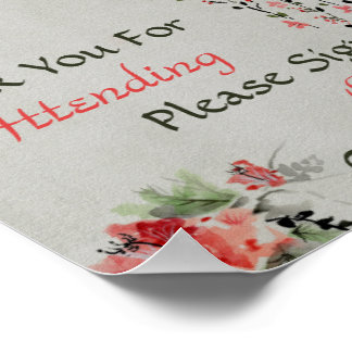 Poster Livre d'invité floral oriental de mariage