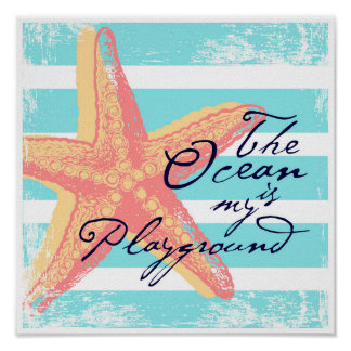 Poster L'océan est mon terrain de jeu