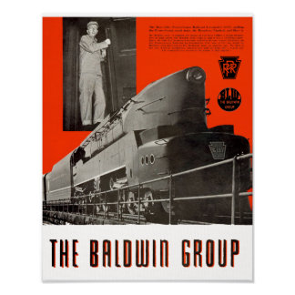 Poster Locomotive 6111 de T1 de chemin de fer de la