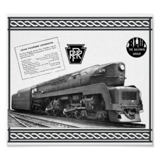Poster Locomotive à vapeur de T-1 de chemin de fer de la