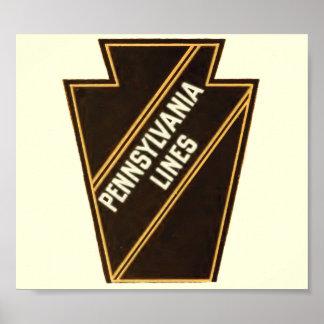 Poster Logo de cru de chemin de fer de la Pennsylvanie