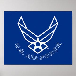Poster Logo de l'Armée de l'Air - bleu