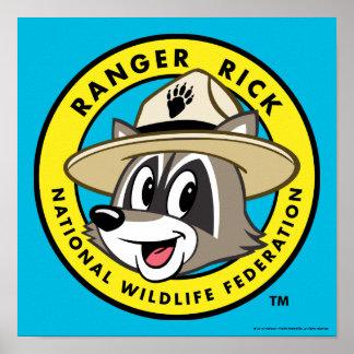Poster Logo de Rick de garde forestière de Rick | de