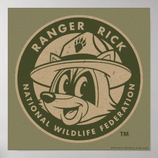 Poster Logo kaki de Rick de garde forestière de Rick | de