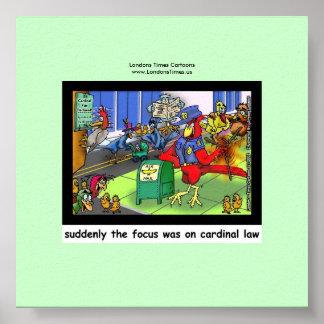 Poster Loi drôle de loi cardinale ou affiche d'oiseau