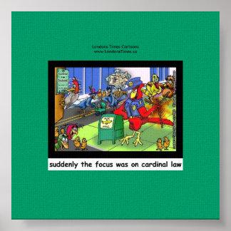 Poster Loi drôle de loi cardinale ou copie de toile