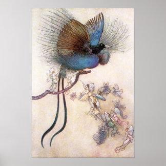 Poster L'oiseau du paradis par Warwick Goble