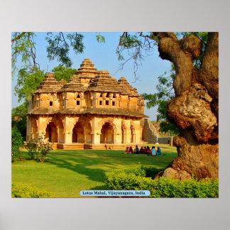 Poster Lotus Mahal, Vijayanagara, Inde