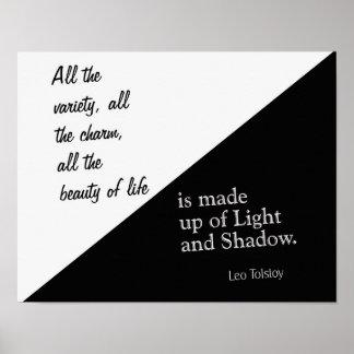 Poster Lumière et ombre - Léon Tolstoï - copie d'art