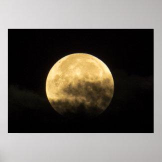 Poster Lune derrière les nuages minces