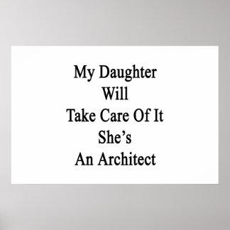 Poster Ma fille prendra soin de lui qu'elle est un