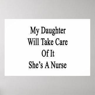 Poster Ma fille prendra soin de lui qu'elle est une