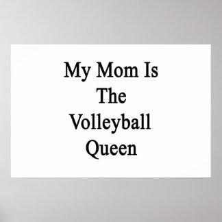 Poster Ma maman est la reine de volleyball