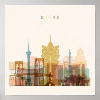 Poster Macao, horizon de ville de la Chine |