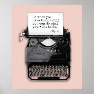 Poster Machine à écrire avec le papier blanc | votre