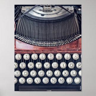 Poster Machine à écrire vintage