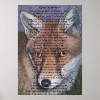 Poster maculez la faune peignant l'art original animal