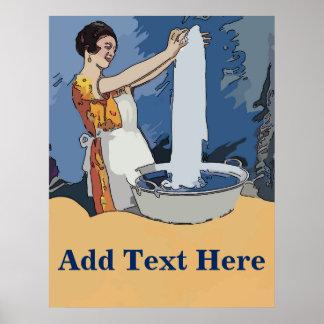 Poster Madame de blanchisserie