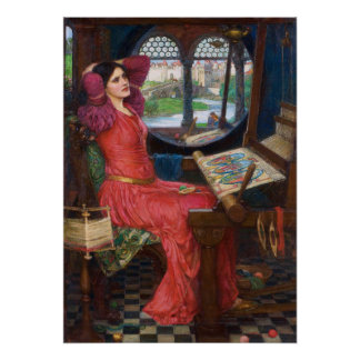 Poster Madame d'échalote par John William Waterhouse