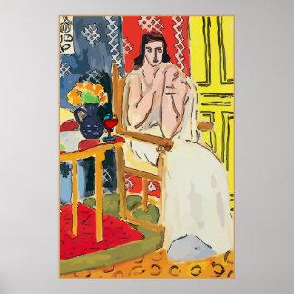 Poster Madame Matisse avec le verre d'eau-de-vie fine